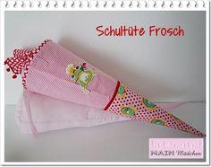 Schultüte Frosch aus Stoff MIT Kissen von Main Mädchen auf DaWanda.com