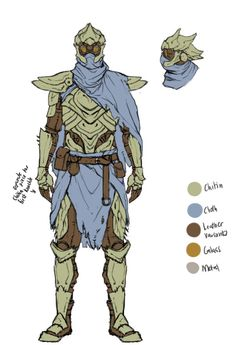 ArtStation - Chitin Armour, Mia Cain Fantasy Character Design, Character Inspiration, Character Art, Dungeons And Dragons Characters, Fantasy Characters, Armor Concept, Concept Art, Elder Scrolls Morrowind, Desert Clothing