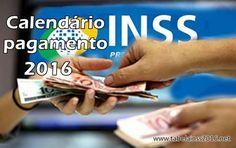 Calendário INSS 2016 pagamento, consulta - Tabela INSS 2016