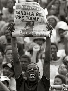 Let Freedom Ring - A boy waits for Nelson Mandela to go home after 26 years. Feb. 11, 1990
