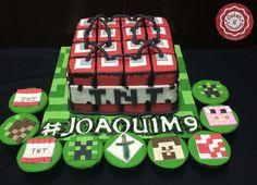 Minecraft 🎉👏🏼🎂#cake #cakestagram #bolo #manaus #cakedesign #minecraft #cakeminecraft