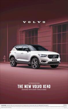 View Introducing The New Volvo Xc 40 Car Ad newspaper. Volvo Xc, Volvo Cars, Car Advertising, Advertising Design, Car Posters, Car Magazine, Creative Poster Design, Social Media Design, Print Ads