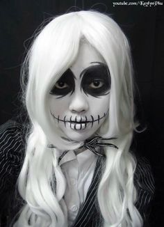 I love this look from @Sephora's #TheBeautyBoard http://gallery.sephora.com/photo/female-jack-skellington-makeup-tutorial-57937