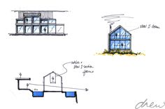 drew architects | clifftop beach house | sketch