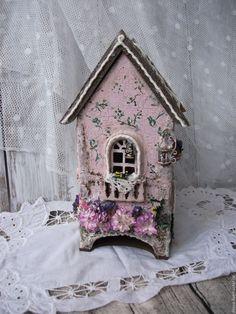 """Купить Чайный домик """"Нежные фантазии"""" - розовый, чайныйдомик, домик для чая, домик для чайных пакетов"""