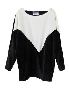 Black And White Contrast Soft T-shirt