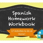 This workbook contains 17 activities covering some of the most common themes from beginning Spanish.  These activities are designed as extension activities for students to complete at home.  I use this workbook during the second semester for Spanish I and/or the first semester of Spanish II.
