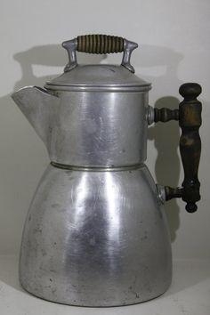 wagner vintage aluminium kettle