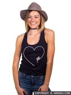 6e5931d1a15f7 Shop the Simple Heart Ideal Racerback Tee Now!  http   www.greeku.com sorority clothing shirts simple-heart-ideal-racerback- tank-top