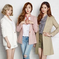 Girls' Generation's lovely subunit trio TaeTiSeo have come together for this season's newest collection of fashion brand 'Mixxo'! Snsd, Girl Day, My Girl, South Korean Girls, Korean Girl Groups, Tiffany Girls, Girls' Generation Tts, Jugend Mode Outfits, Young Kim