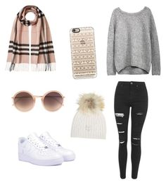 """""""Ykh chapter 1"""" by ffionjones44 ❤ liked on Polyvore featuring Topshop, NIKE, Linda Farrow, Burberry, Casetify and M. Miller"""
