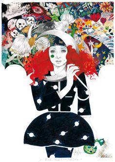 'John Blund'. Giclée Konsttryck av Lina Ekstrand