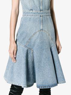 Alexander McQueen Jeanskleid ohne Ärmel