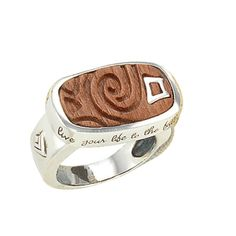 Silver and wooden ring