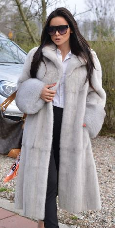 NEW PEARL SAGA MINK FUR COAT FOX CLASS- SABLE CHINCHILLA JACKET LONG VEST TRENCH | Clothes, Shoes & Accessories, Women's Clothing, Coats & Jackets | eBay!