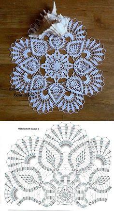 Home Decor Crochet Patterns Part 150 - Beautiful Crochet Patterns and Knitting Patterns Filet Crochet, Crochet Doily Diagram, Crochet Mandala Pattern, Crochet Art, Thread Crochet, Crochet Patterns, Crochet Shrugs, Knitting Patterns, Crochet Ideas