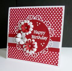CAS431 ~ Polka Dot Birthday by sistersandie - Cards and Paper Crafts at Splitcoaststampers