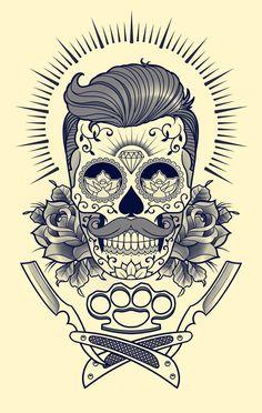 Resultado de imagen de barber tattoo
