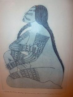 Arnaktauyok Germaine, tattooed lady - Inuit, Tlingit, or Haida traditional tattoos? Arte Inuit, Inuit Art, Forearm Tattoos, All Tattoos, Tatoos, Body Tattoos, Native Tattoos, Tribal Tattoos, Alaska Tattoo