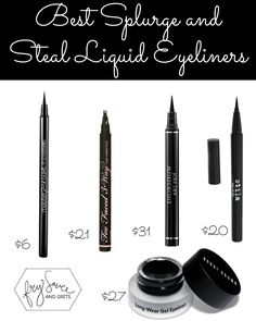 Best Splurge vs Steal Liquid Eyeliners FrySauceandGrits.com