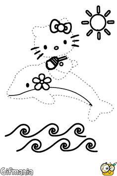 Aprende a dibujar a Hello Kitty uniendo los puntos! #hellokitty #pasatiempos #unirlospuntos