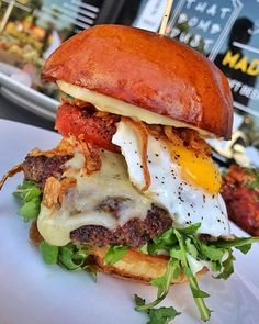 Truffle burger from @bellybombz   Tag a friend who would love this & tag us in your #foodtruck photos or use #hirefoodtrucks to get featured!