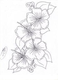 hibiscus coloring pages | Hibiscus coloring page