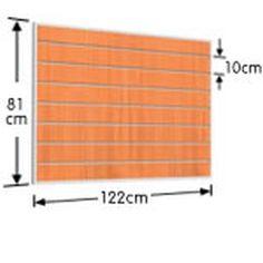 Τελαρωμένο Πάνελ Slat D=122 H=81cm με 7 αρμούς