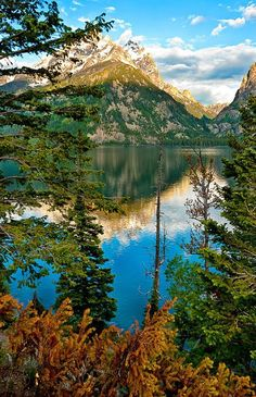 Jenny Lake is located in Grand Teton National Park in the U.S. state of Wyoming. The lake was formed approximately