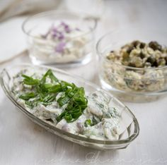 Nettle and horseradish marinated Baltic herring
