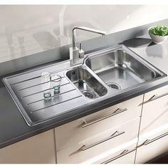 1.5 Bowl Rangemaster Baltimore Stainless Steel Kitchen Sink Single Top Mount