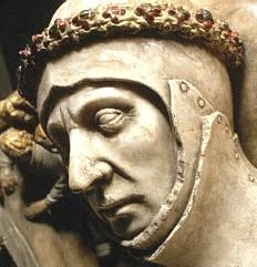 John Beaufort, 1st Earl of Somerset (c. 1371-1410), legitimized son of John of Gaunt (son of Edward III) and Katherine Swynford; ancestor of the Tudor dynasty.