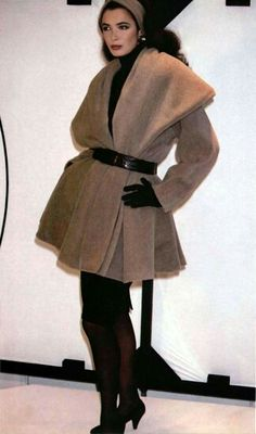 best loved 7bd36 5a052 Linda Spierings in the Donna Karan AW 1986 show.