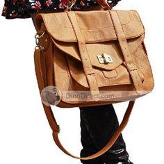 LESHAER Modern Vintage PU Shoulder Women Messenger Bag - DinoDirect.com
