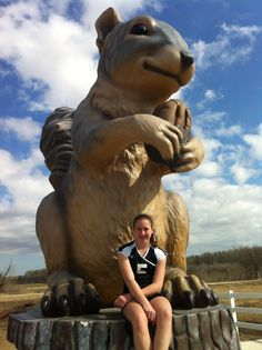 Take a picture at a local landmark By Sam Pollard. One of the cutest landmarks!