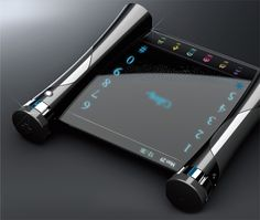 The Korean Sky concept is a sleek and slim mobile device that comes with a wonderful luminous blue touchpad. The keypad appears to have a nice slide open cover that has blue OLED lights and some touch sensitive contro...