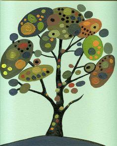 Tree of life Original Acrylic Painting Landscape Trees Canada -Modern paintings art