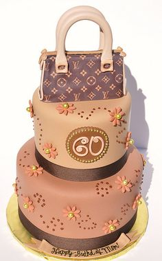 Love this cake minus purse and in bright colors.  Kat