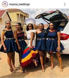 African Print Wedding Dress, African Bridesmaid Dresses, African Maxi Dresses, Latest African Fashion Dresses, Shweshwe Dresses, Ankara Fashion, Zulu Traditional Wedding Dresses, Zulu Traditional Attire, Traditional African Clothing