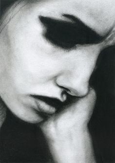 Image de face, black and white, and drawing