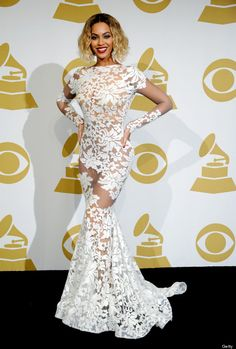 Beyonce's Grammy's 2014 dress would make a beautiful wedding dress!