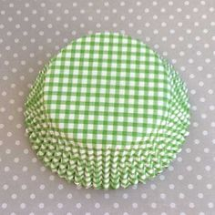Cupcake Liners: Green Gingham (($))