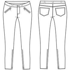 Modelos de ropa patrones para todas las edades Pantalon Chupin 710 DAMA Pantalones