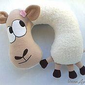 Подушка-подголовник Барашек Оскар - подушка,подушка-подголовник,подушка-игрушка