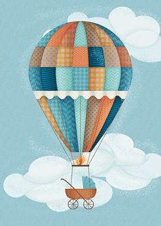 Hot air balloon on Behance
