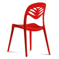 Domitalia ForYou2 Stacking Chair - Red - Set of 4 ForYou2 boasts a vented backrest with fluid cutout detail - a feature made possible with the use of fiberglass-reinforced polypropylene, shaped by air-molding technology in an environmentally friendly production process. The uniquely shaped frame is offered in five modern colors. Made from recyclable material and suitable for indoor/outdoor use. Stackable to six high. Sold in sets of four.#Domitalia #homedecor #funiture #modernfurniturer