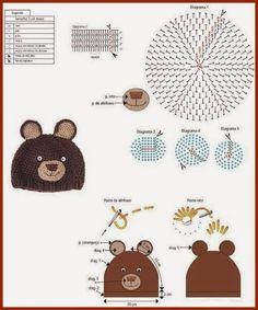 How to Make a Crochet Hat - Crochet Ideas Crochet Diagram, Crochet Chart, Crochet Motif, Crochet Stitches, Crochet Patterns, Crochet Kids Hats, Crochet Fox, Crochet Beanie, Diy Crochet