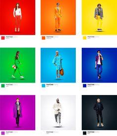 PANTONE People by Maxim Nilov, via Behance