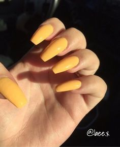 Want to know how to do gel nails at home? Learn the fundamentals with our DIY tutorial that will guide you step by step to professional salon quality nails. Pretty Nail Designs, Winter Nail Designs, Colorful Nail Designs, Acrylic Nail Designs, Nail Art Designs, Yellow Nails Design, Yellow Nail Art, Coffin Nails, Acryl Nails