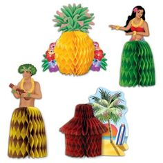Luau Centerpieces | 4ct for $3.33 in Luau - Theme Parties - Theme & Event Parties